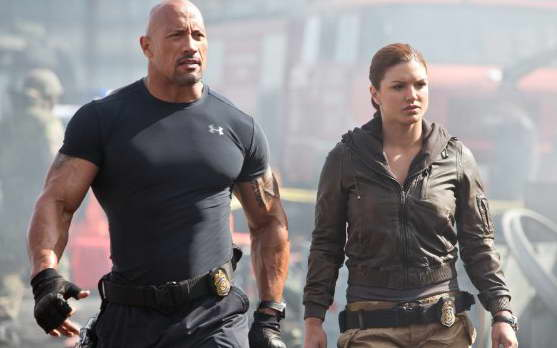 Fast & Furious 6 - Dwayne Johnson and Gina Carano