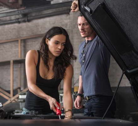 Fast & Furious 6 - Michelle Rodriguez and Luke Evans