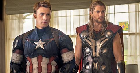 Avengers - Chris Evans and Chris Hemsworth