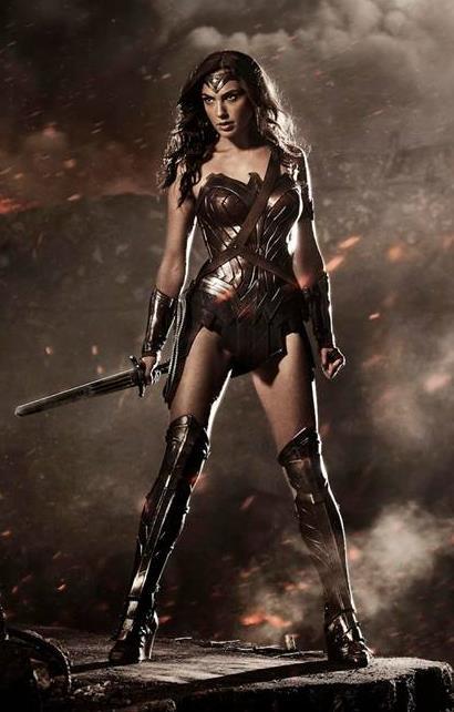 Gal Gadot as Wonder Woman in Batman v Superman