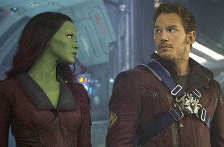 Chris Pratt and Zoe Saldana in Guardians of the Galaxy, a review