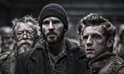 John Hurt, Jamie Bell and Chris Evans in Snowpiercer, a review