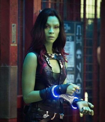 Zoe Saldana in Guardians of the Galaxy