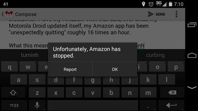 Motorola Amazon Stopped Message