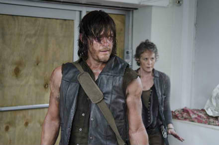 Norman Reedus and Melissa McBride in The Walking Dead - review