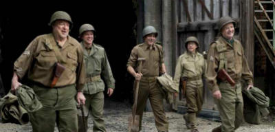 George Clooney, Bill Murray, Matt Damon, John Goodman, and Bob Balaban in The Monuments Men a review