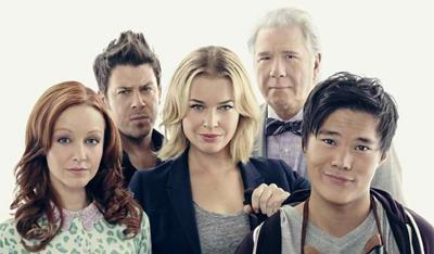 Rebecca Romijn, Lindy Booth, Christian Kane, John Larroquette and John Kim in The Librarians, a TV review