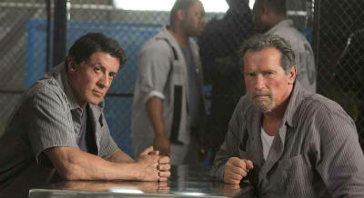 Arnold Schwarzenegger and Sylvester Stallone in Escape Plan a review