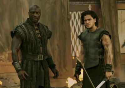 Kit Harington and Adewale Akinnuoye-Agbaje in Pompeii a review