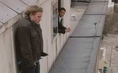 Still of Terrence Howard and Charlie Hunnam in The Ledge, a review p