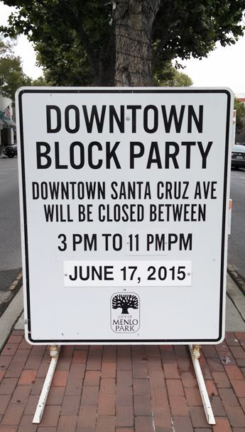 Block Party in Downtown Menlo Park