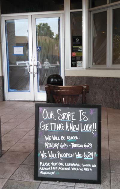 Starbucks in Menlo Park is Temporarily Closed