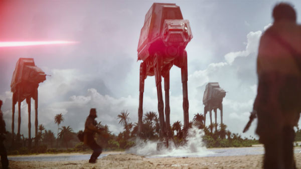 Rogue One AT-AT scene