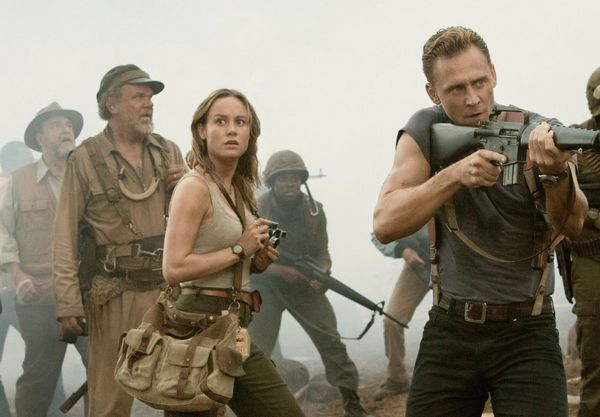 Kong Skull Island movie review, Tom Hiddleston, Brie Larson, John Goodman